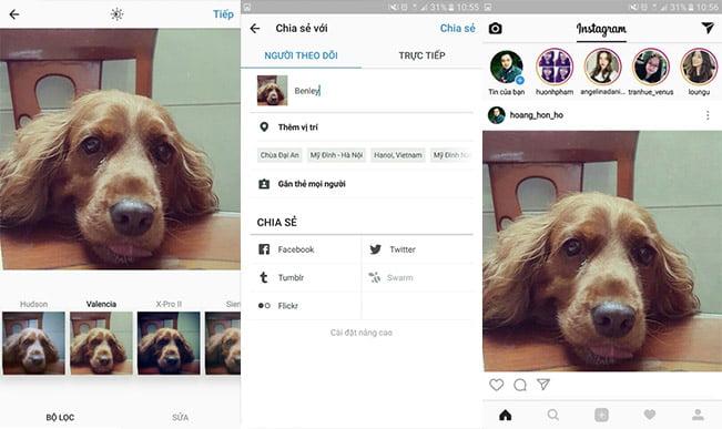 Chia sẻ hình ảnh, video lên instagram 2