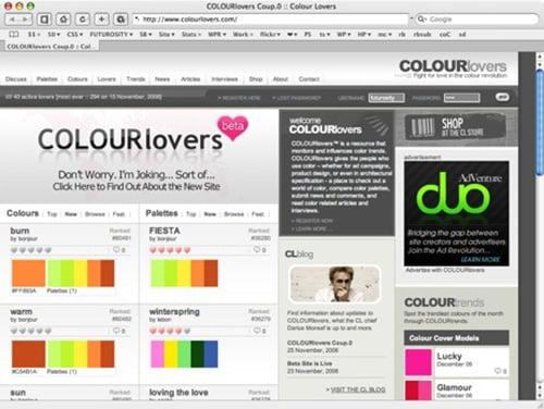 5 website độc nhất hỗ trợ phối màu cho Designer
