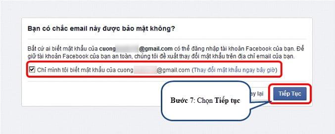 Xác minh lại địa chỉ email của bạn