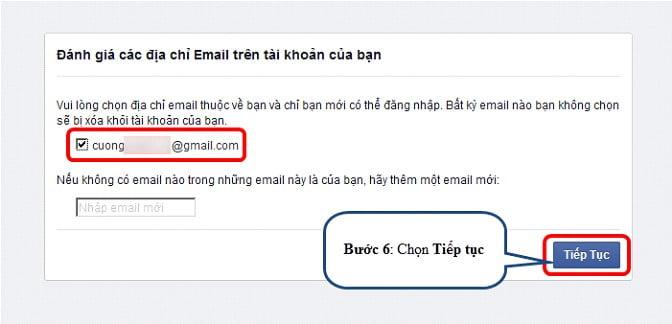 Đánh giá các địa chỉ Email trên tài khoản của bạn