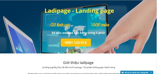 1.Website tạo landing page đẹp ladipage.vn