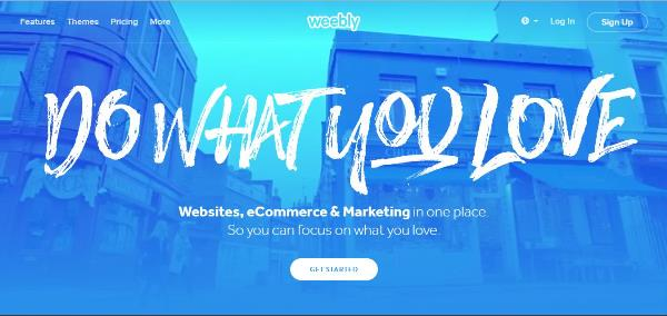 Weebly.com – website tạo landing page tuyệt vời