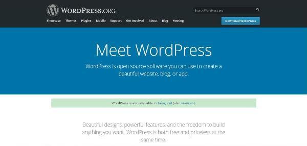 Website tạo landing page Wordpress.org – lựa chọn hàng đầu cho sư mới lạ, độc đáo