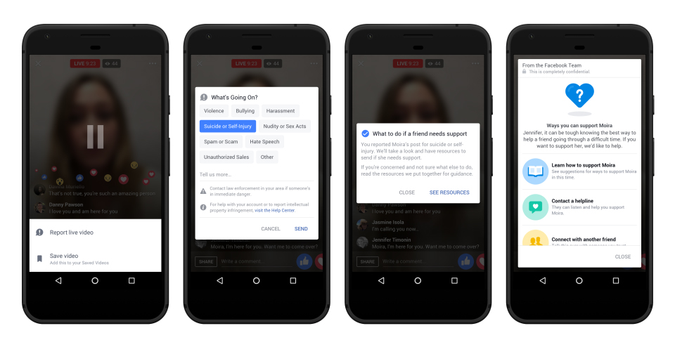 Facebook đã triển khai công cụ ngăn ngừa tự tử