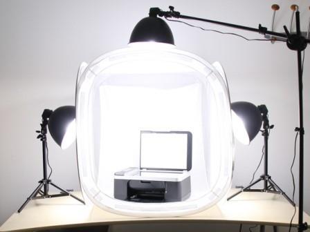 Setup ánh sáng với khu vực chụp ảnh nhỏ
