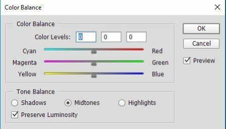 Công cụ Color Balance
