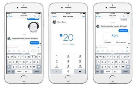 Chuyển tiền qua tính năng mới của Facebook Messenger