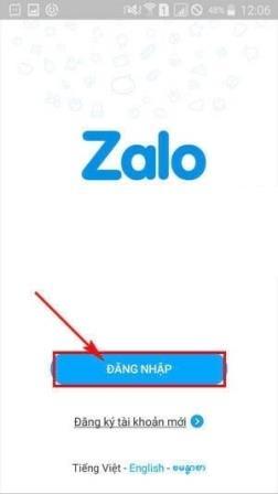 Đăng nhập Zalo trên thiết bị di động