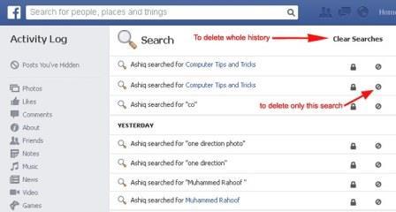 Biết lịch sử Facebook của bạn