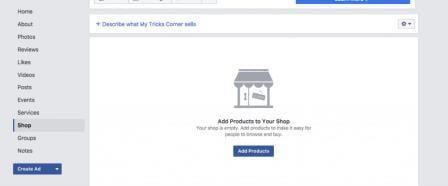 Tìm kiếm cửa hàng trên Facebook
