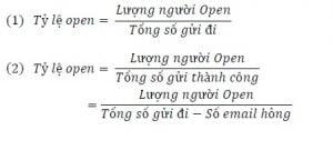 Công thức tính tỷ lệ Open