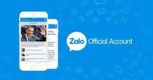 Chọn danh mục đăng ký Zalo page