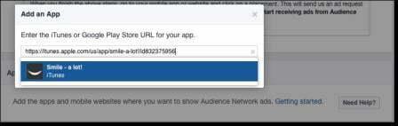 Nhập và kiểm tra URL đến ứng dụng