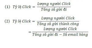 Công thức tính tỷ lệ Click vào Email Marketing của bạn