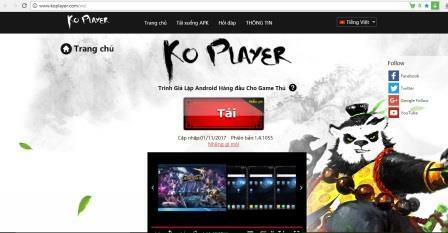 Bước 1: Download về PC phần mềm giả lập Androi KOPlayer.