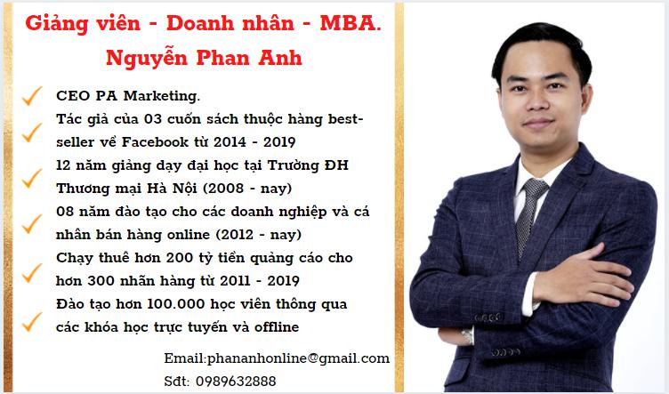 Giảng viên-Doanh nhân - MBA Nguyễn Phan Anh