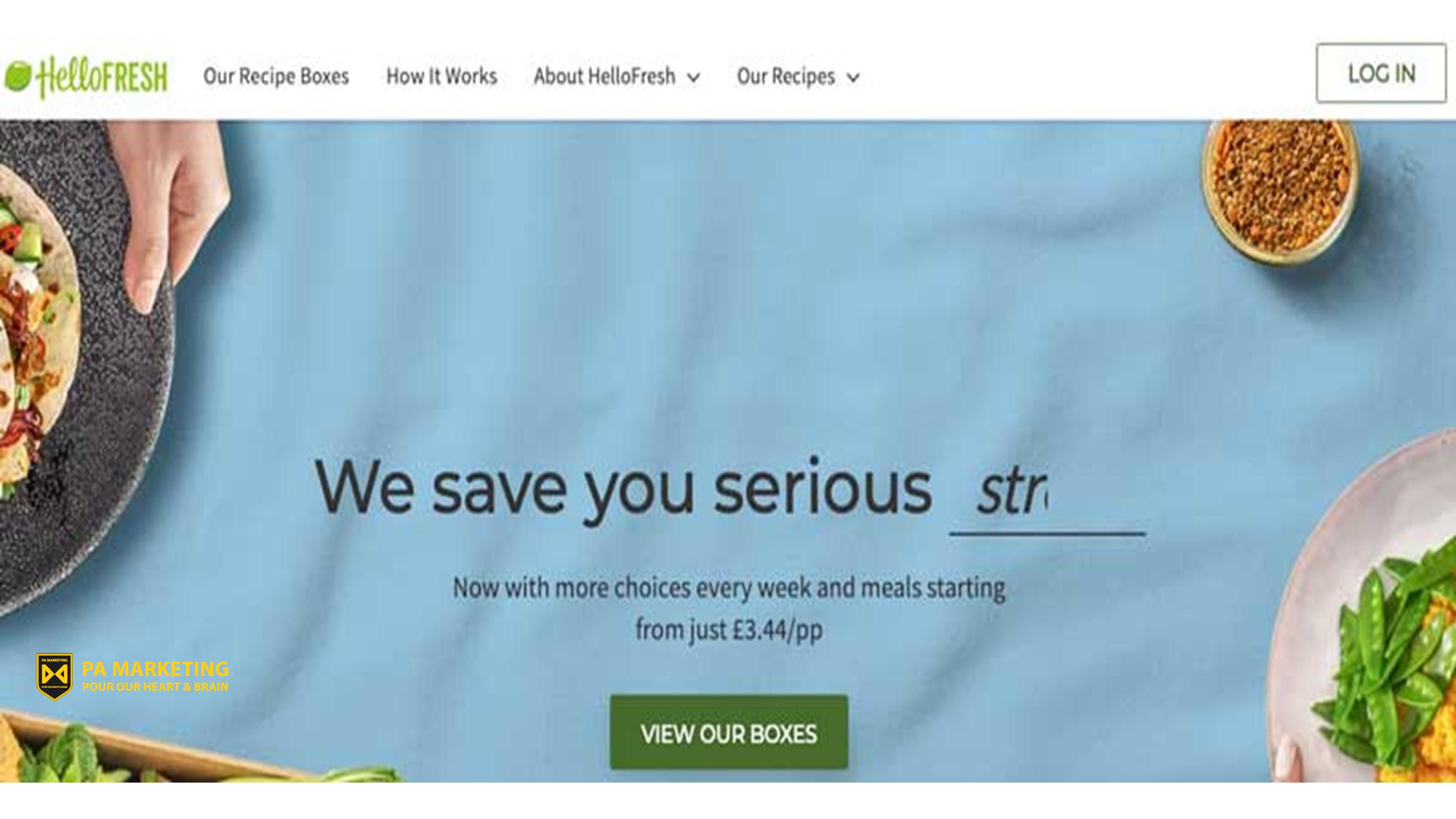 Mô hình đăng ký Hellofresh