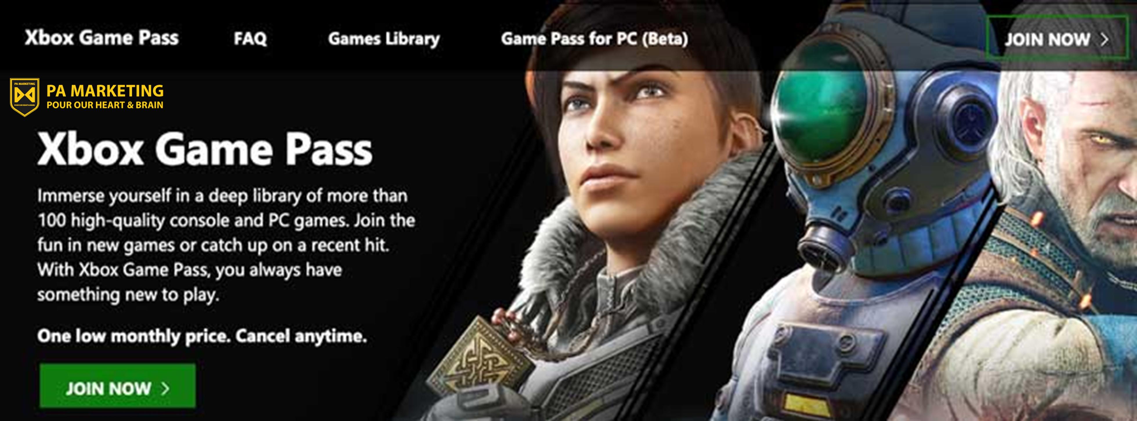 Mô hình đăng ký vé trò chơi Xbox