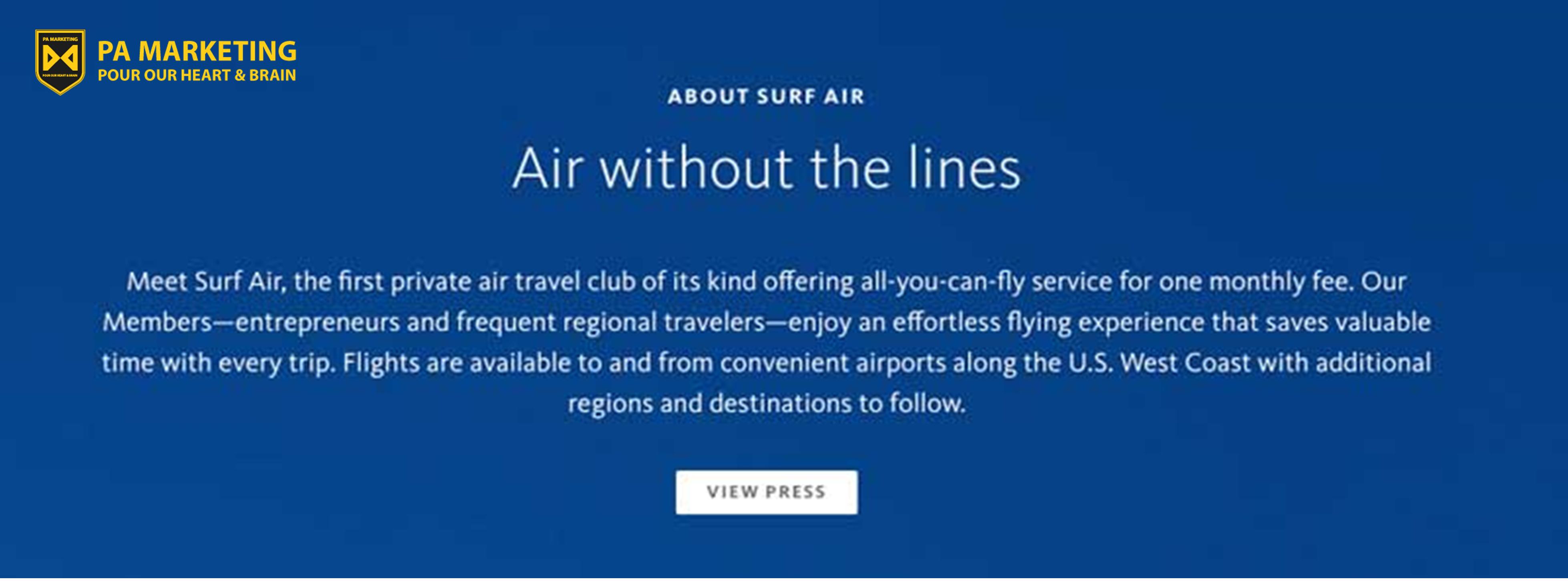 Mô hình kinh doanh thuê bao Surf Air