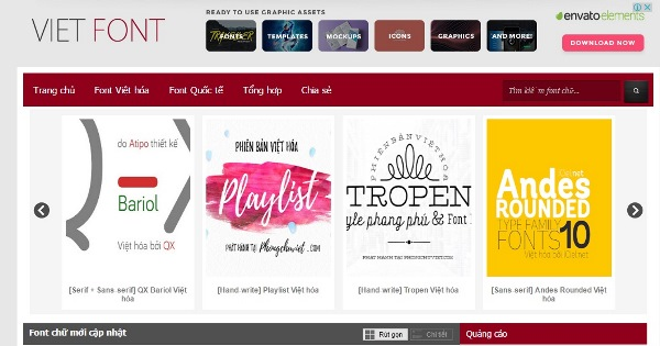 Một số Website tải Font chữ đẹp.