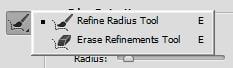 Các công cụ trong Refine Edge