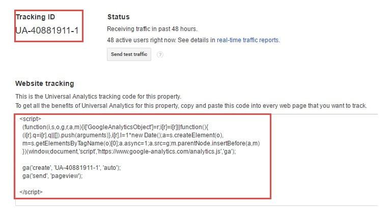 Cài mã Google Analytics vào website
