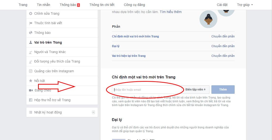 Cách phân quyền trên trang Facebook