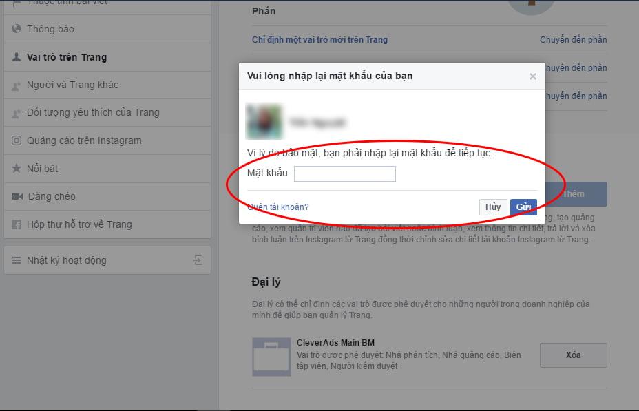 Hoàn thành phân quyền trên trang Facebook