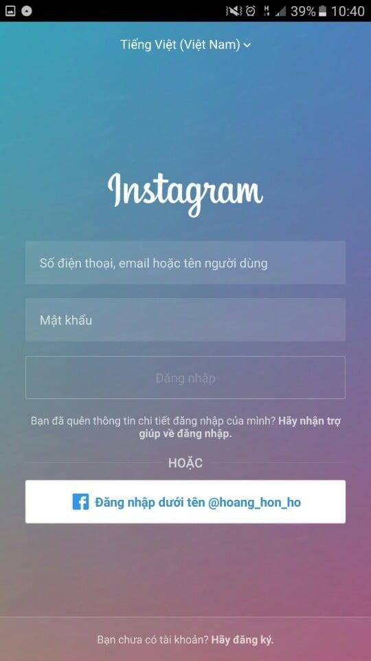 Cài đặt và tạo tài khoản instagram