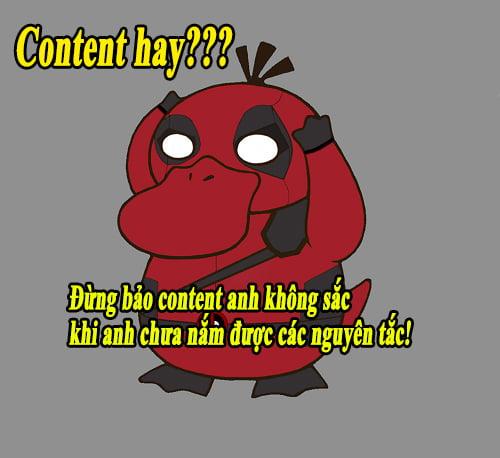 Content hay luôn chứa đựng những thông điệp truyền tải của riêng nó