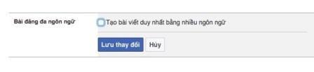 Đăng bài viết trên Facebook bằng nhiều ngôn ngữ