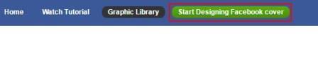 """Nhấn vào """"Start Designing Facebook Cover"""" để bắt đầu thiết kế Cover Avatar Facebook"""