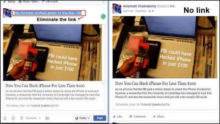 Chia sẻ hoạt động của bạn trên Facebook