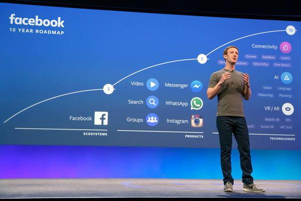 Hội nghị Facebook F8 và 2 dự định không tưởng của Facebook
