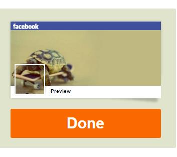 Kết thúc việc tạo Avatar khớp ảnh bìa Facebook