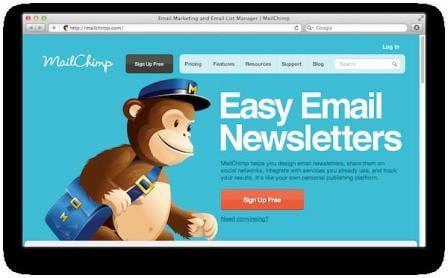 Phần mềm quét Email từ Website- MailChimp