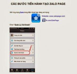 Tạo Zalo Page