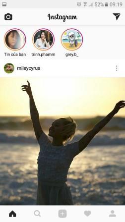 Đăng tin trên Instagram