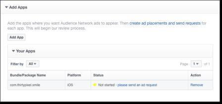Trạng thái hiển thị của URL ứng dụng
