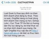 Tin nhắn từ cụ thuế về việc thu thuế kinh doanh Online tại Hà Nội
