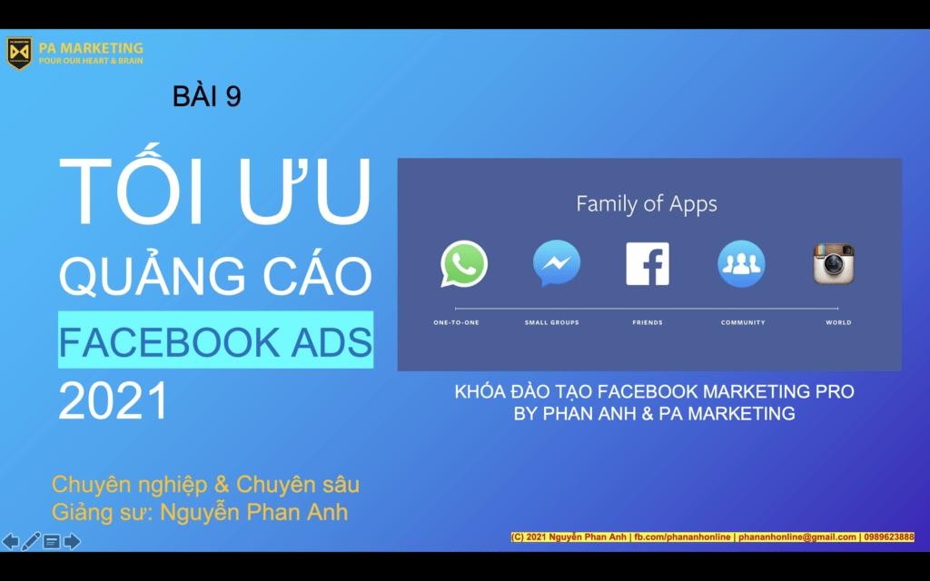Tối ưu quảng cáo Facebook Ads 2021