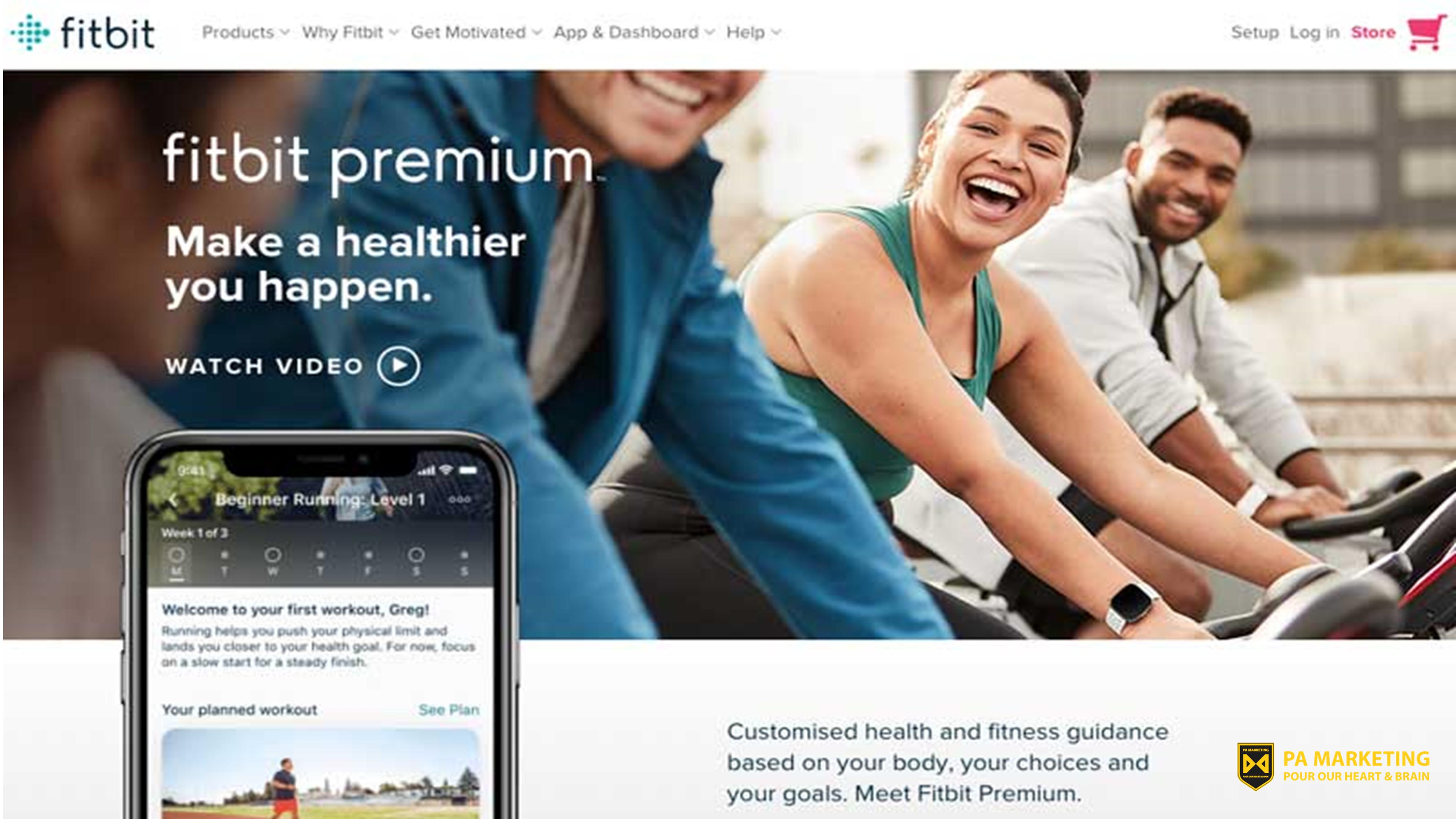 Mô hình kinh doanh đăng ký Fitbit